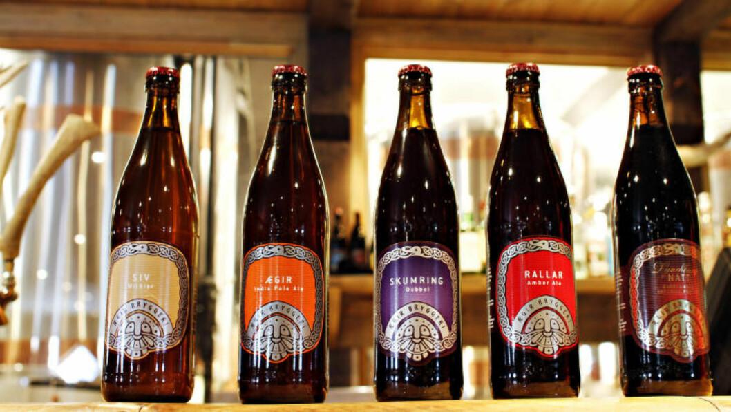<strong>FEM:</strong> Ægir ølsorter til ølmenyen. Foto: OLE C.H. THOMASSEN
