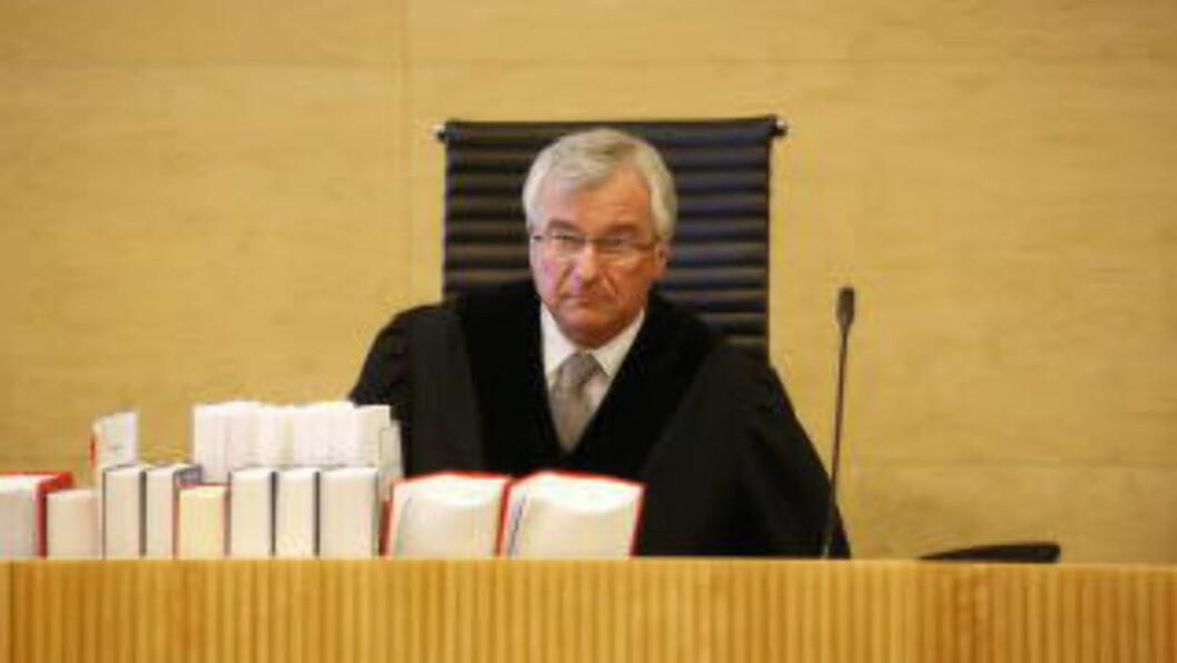 <strong> DOMMER:</strong>  Lagdommer Peter L. Bernhardt har vært rettens administrator. FOTO: JACQUES HVISTENDAHL/DAGBLADET.