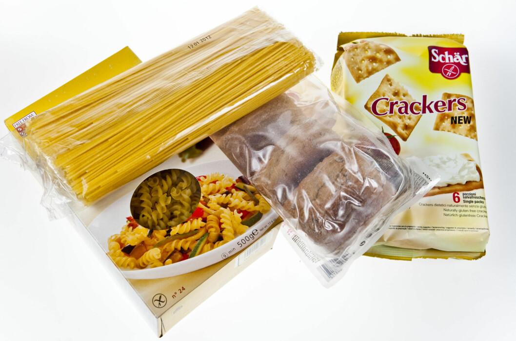 Glutenfrie varer er blant spesialmaten som det nå er priskrig på i butikkene. Foto: Per Ervland
