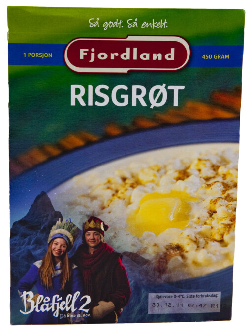 TREDJEPLASS: Fjordland Risgrøt.  Foto: Per Ervland