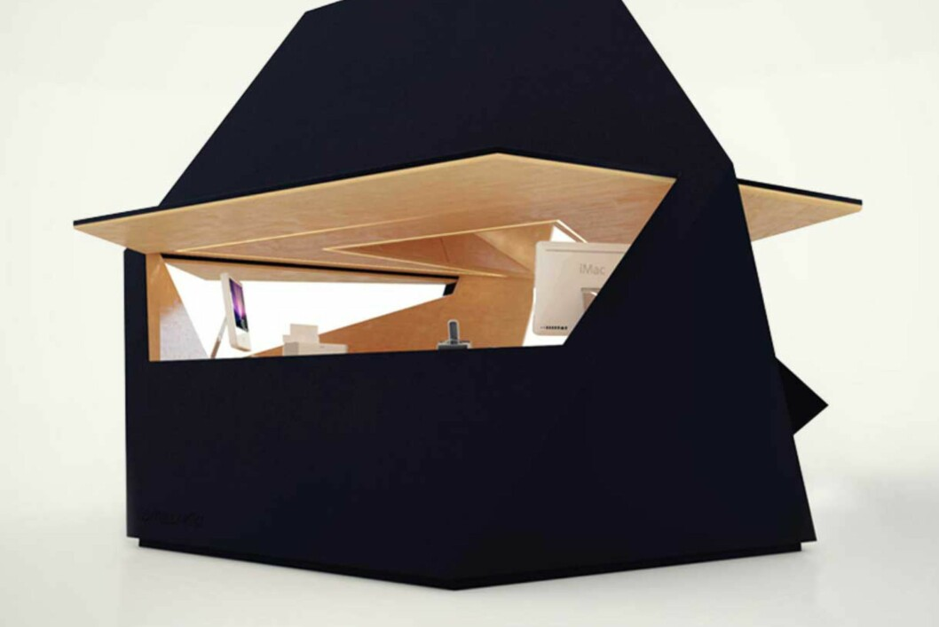 Tetra Shed er et modubasert skur som er laget for å fungere som hjemmekontor i hagen. Foto: Produsenten