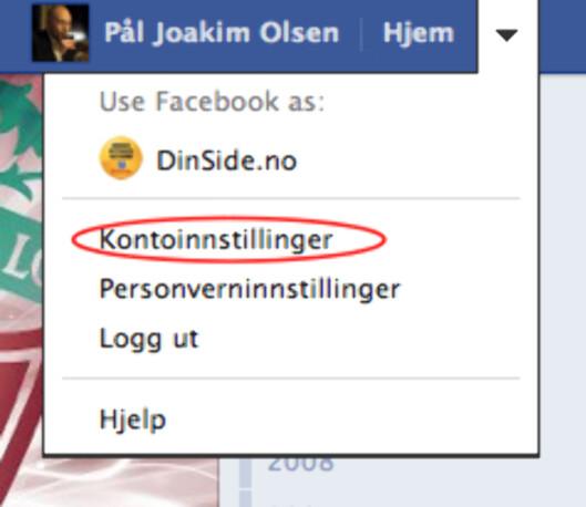 Under <i>kontoinnstillinger</i> er det mye du kan fikle med for å gjøre Facebook-opplevelsen tryggere.