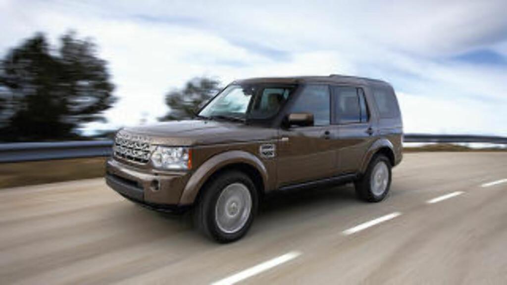GAMMEL TRAVER: Land Rover Discovery 4 får snart avløsning.  Foto: LAND ROVER