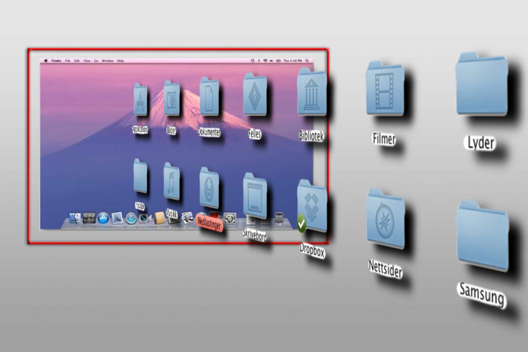 <strong><B>DELE OG DELE:</strong></B> Hvis du ønsker å sende videre mapper eller filer til andre i familien og har en Mac, er dette måten å gjøre det på.