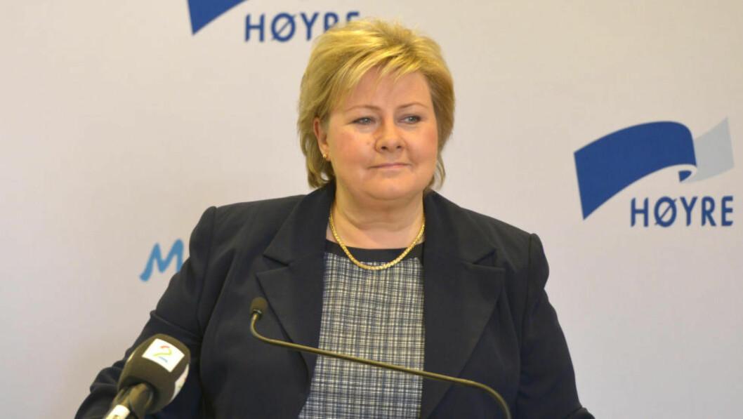 Oslo  20140323. Statsminister Erna Solberg innledet søndag under Høyres sentralstyremøte i Oslo. Foto: Per Løchen / NTB scanpix