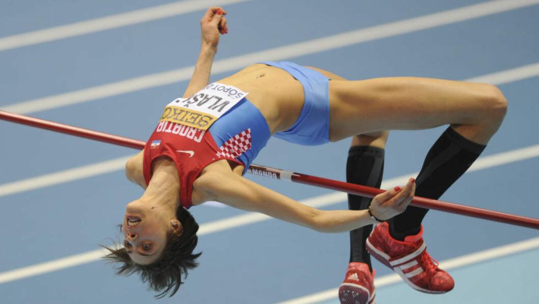 <strong>KOMMER TIL OSLO:</strong> Blanka Vlasic fra Kroatia har vært verdens beste høydehopper i flere år, men har slitt med skader de siste par sesongene. Nå gjør hun comeback på Bislett. Foto: AP Photo / Alik Keplicz / NTB Scanpix