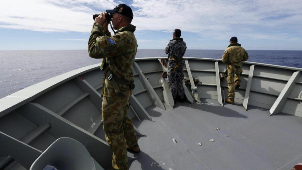 <strong>LETER:</strong> Søkeområdet etter Malaysia Airlines-flyet i Indiahavet har blitt betraktelig innskrenket. Foto: Reuters/Australian Defence Force/Handout via Reuters