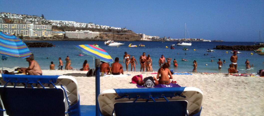 <strong><b>DRØMMER OM EN VARM JUL:</strong> </b>Stadig flere nordmenn feirer jul på Gran Canaria. Foto: Silje Ulveseth