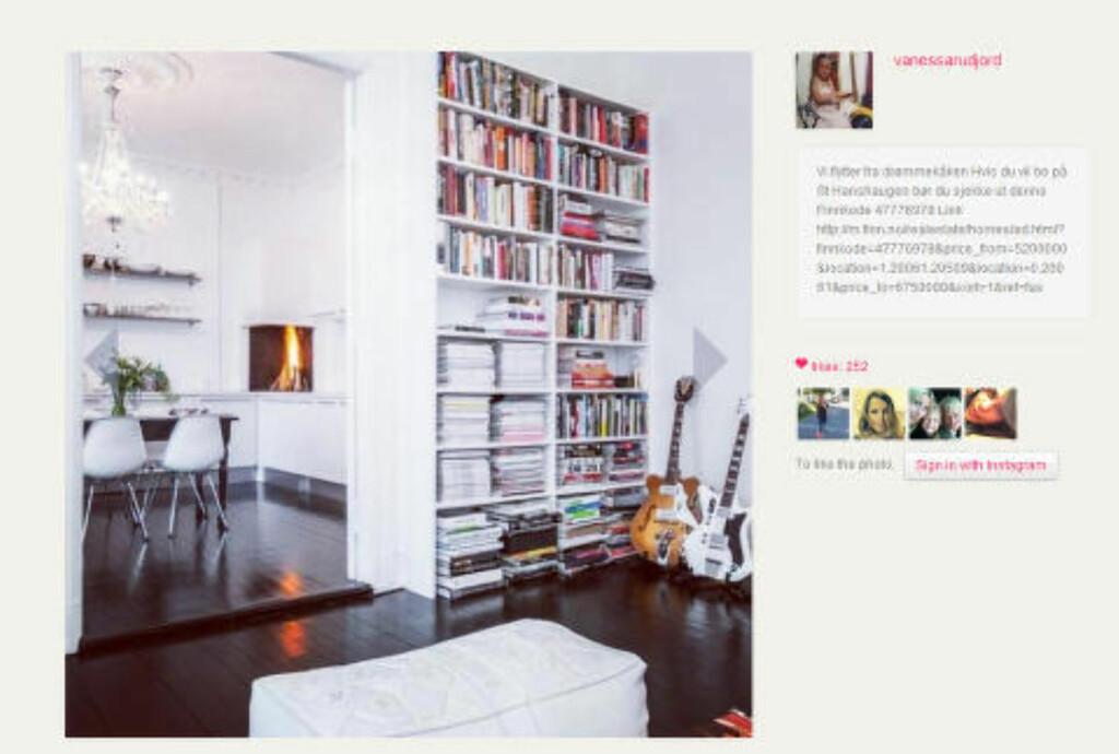 Instagram:  Rudjord delte i dag lenke til Finn-annonsen på Instagram.