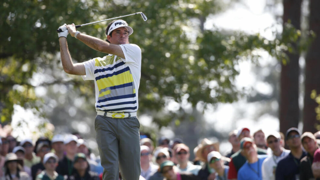 <strong>FORAN:</strong> Bubba Watson leder Masters med tre slag etter halvspilt turnering. Foto: Jim Young / Reuters / NTB Scanpix