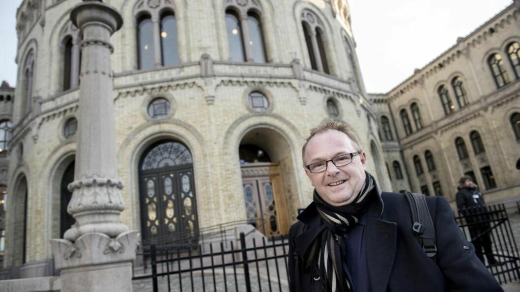 <strong>SKAL STOPPE:</strong>  Per Sandberg vil stoppe en egen muslimsk skole i Oslo. Foto: Øistein Monsen/Dagbladet.