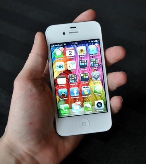 """Apples """"Retina""""-skjerm er knivskarp, selv om konkurrentene nå er på banen med enda høyere oppløsning. Foto: Pål Joakim Olsen"""