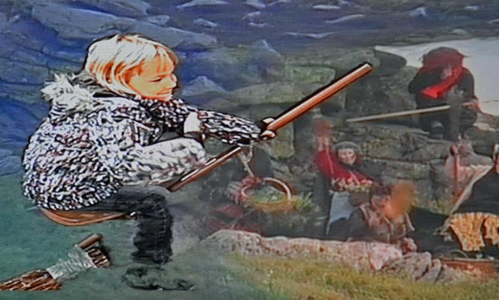 image: Her kan du legge hånden på offersteinen der heksene festet med Djevelen