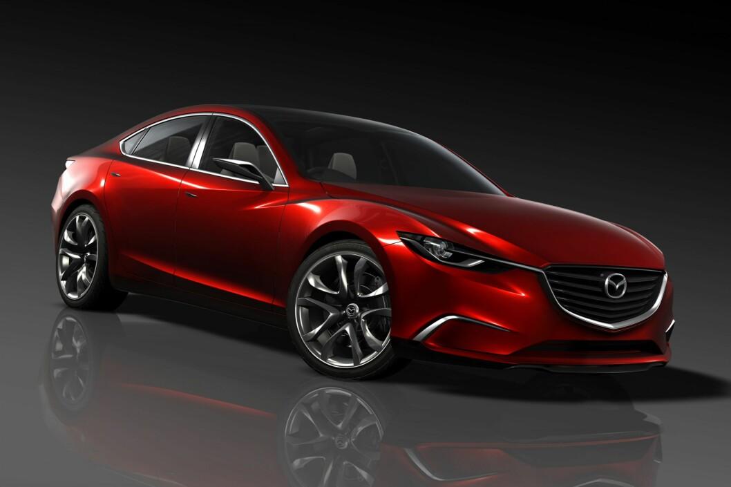 Takeri har mye av det samme designspråket som nye CX-5 - og trolig kommende Mazda 6 Foto: Mazda