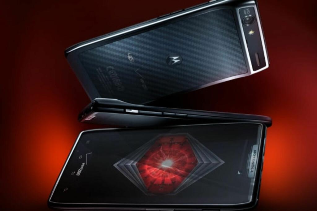 Motorola Razr har et midjemål på bare 7,1mm. Det gjør den til den tynneste Android-modellen i dagens marked. Foto: Produktbilder