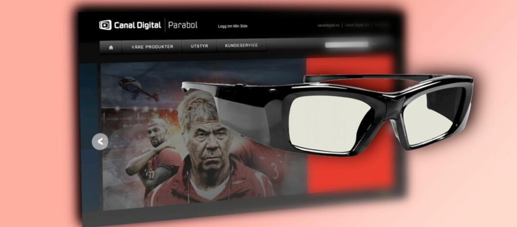 I kveld kan du se norsk fotball i 3D. Foto: Canal Digital/3D-briller