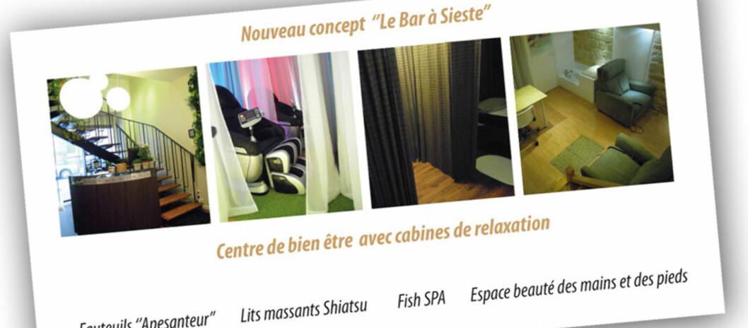 <strong><b>ZZZOV ZZZØTT:</strong></b> ZZZ Zen - Le Bar à Sieste heter den nye sovebaren i Paris. Foto: http://www.barasieste.com/