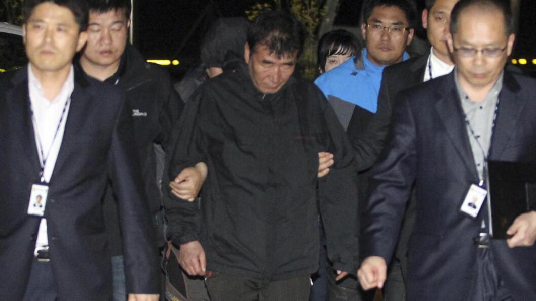 <strong>JEVNGOD MED DRAP:</strong> Sør-Koreas president Park Geun-hye retter nådeløs kritikk mot kapteinen på ulykkesferja Sewol og mener mannskapet om bord langt på vei gjorde seg skyldige i drap. Foto: NTB Scanpix