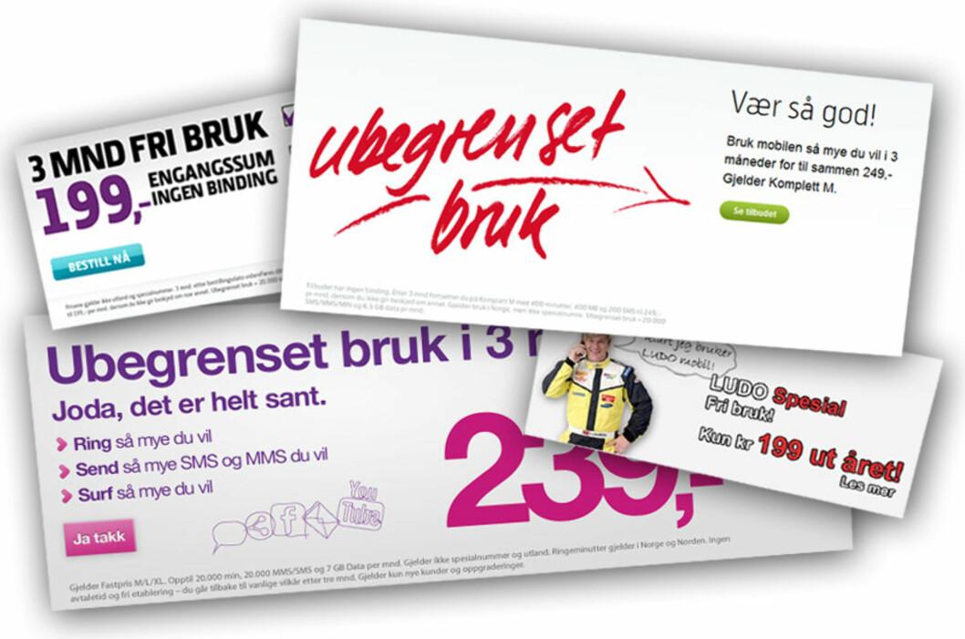 <strong>ULOVLIG:</strong> Forbrukerombudet mener mange av mobilreklamene som nå ruller på norske TV- og PC-skjermer bryter markedsføringsloven.  Foto: Ole Petter Baugerød Stokke