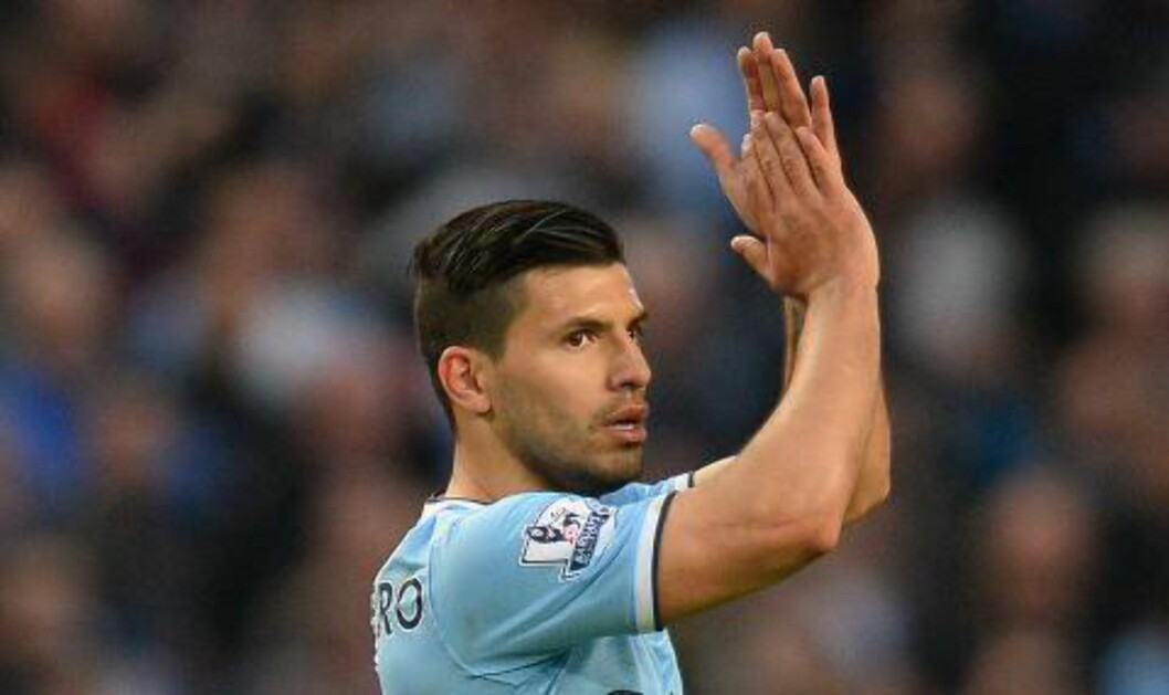 <strong> DOBLET:</strong>  Sergio Agüero ordnet 2-0 for Manchester City. Foto: NTB Scanpix