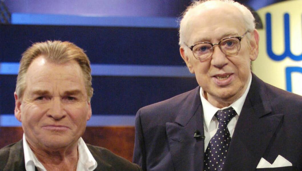 GAMLE HELTER: Fritz Wepper og Horst Tappert, bedre kjent som Stefan Derrick og Harry Klein. Foto: Scanpix