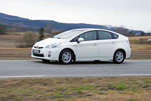 Hybridbilene har lavt forbruk, men ikke det samme problemet med lokal forurensning som de fleste dieselbiler