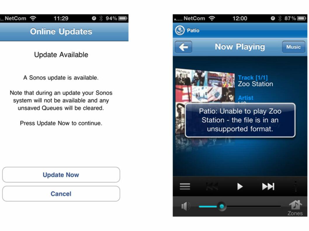 Via appen får du også beskjed når ny software er tilgjengelig, slik at du alltid har siste software. Praktisk. Foto: Øyvind Paulsen