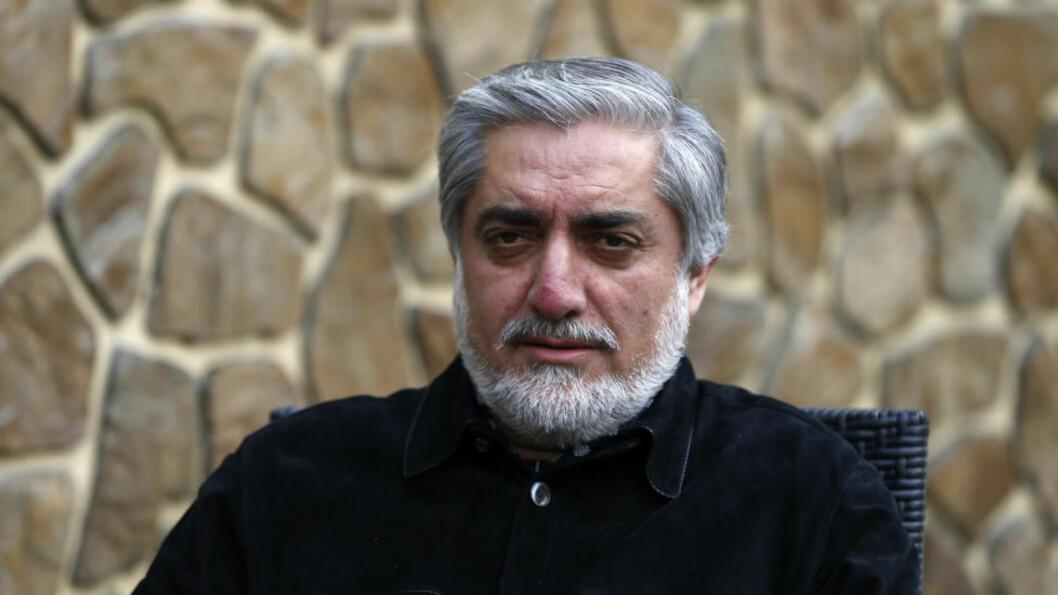 <strong>LEDER:</strong> Presidentkandidat Abdullah Abdullah er fortsatt i ledelsen i det afghanske presidentvalget med 43,8 prosent etter at over 80 prosent av stemmene er telt opp. Foto: Reuters / NTB scanpix