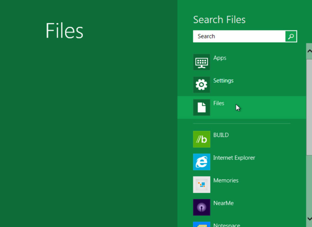 Microsoft har i de senere år innsett viktigheten av søk, og Windows 8 har fått en egen søkeskjerm.