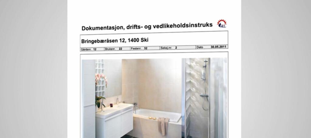 Med et DDV-dokument slipper du å rive hele badet for å finne ut hvorfor det er fukt under flisene. Foto: Antimedia / Skikkeligrørlegger.no