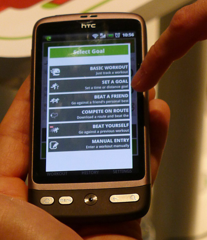 Vi fikk demonstrert Endomondo på Mobile World Congress i Barcelona, der selskapet hadde en plass på den offisielle Android-standen.
