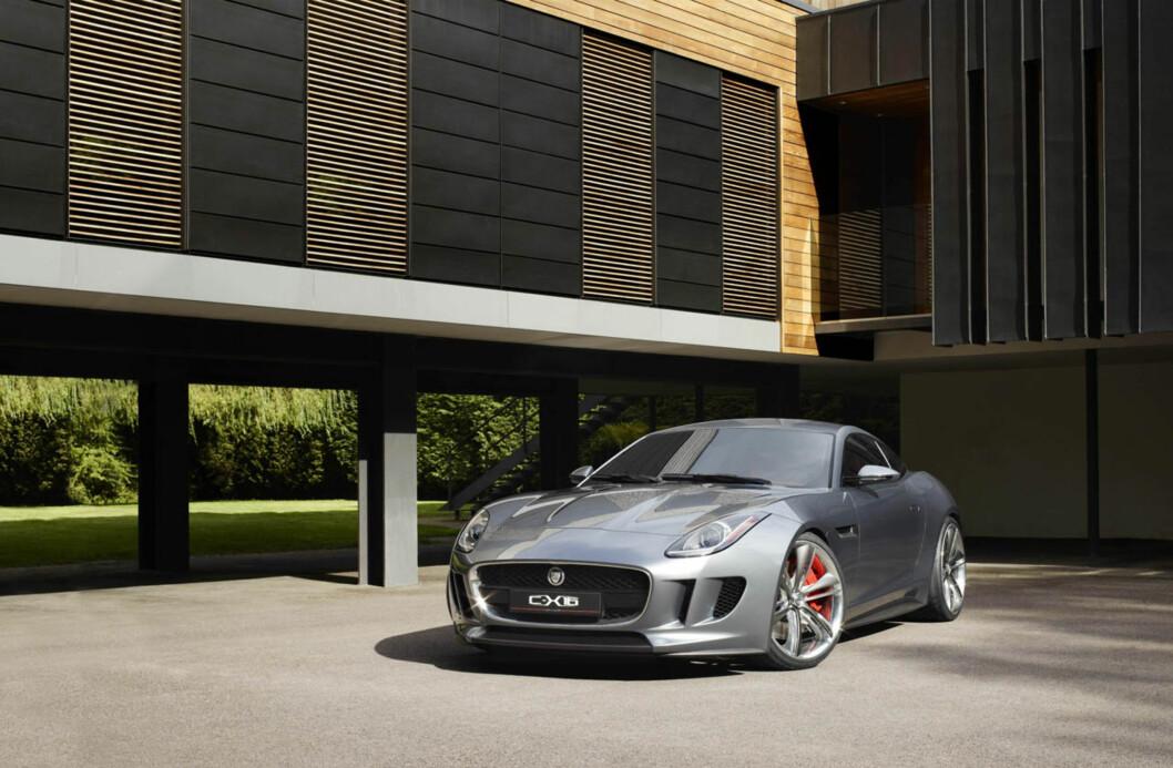 <strong>Jaguar C-X16:</strong> Dette er Jaguars design overført til neste generasjon, ifølge designsjef Ian Callum. Foto: Jaguar