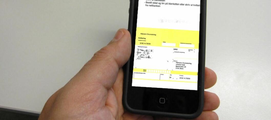Datteren til Trond Manskow har brukt telefonen i et halvt år uten å motta en eneste faktura. Det skyldes ikke en feil, men fornuftig mobilbruk. Foto: DinSide