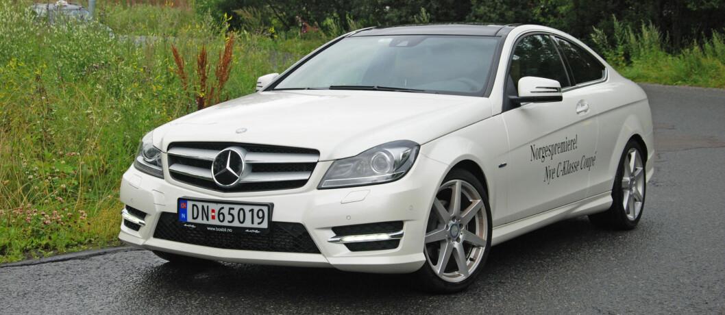 C-klasse kupé er Mercedes sin rimeligste kupé Foto: Cato Steinsvåg