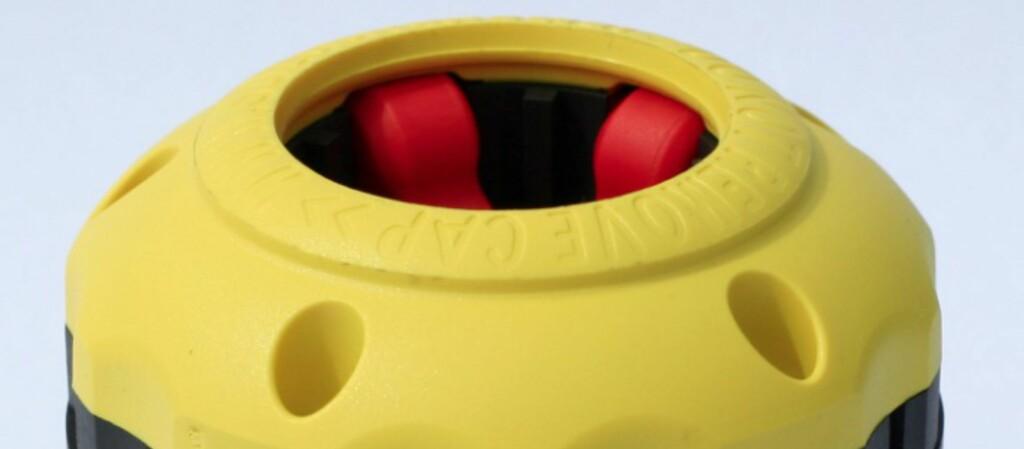 <strong>SoloDiesel:</strong> Et smart lokk som hindrer feilfylling. Foto: Produsenten