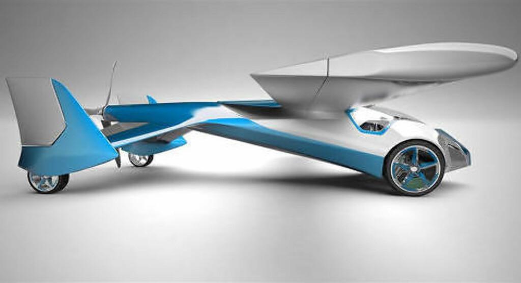 AEROCAR: Også denne «flybilen» fra Slovakia, designet av  Stefan Klein, har så vidt vært i lufta. Aeromobil versjon 2.5 heter den.  Foto: AEROMOBIL