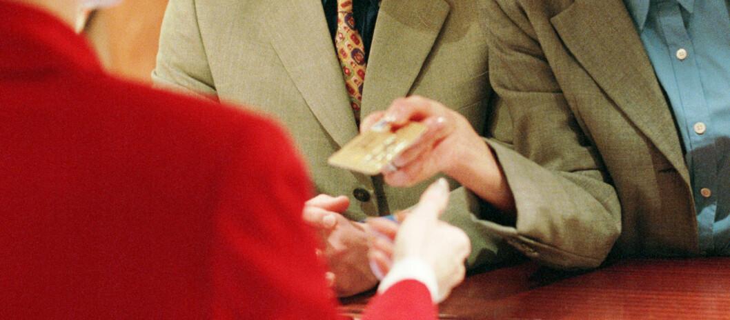 <strong><strong>SVINDEL:</strong></strong> Tall fra USA indikerer at du er mer utsatt for kortsvindel om du betaler med kredittkort på hoteller. Foto: Colourbox.com