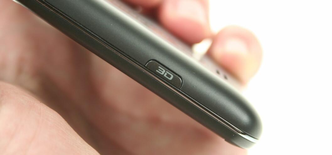 <strong><B>TRYKK PÅ DENNE:</strong></B> LG har lagt inn snarvei til 3D-funksjonene på ene siden.  Foto: Øivind Idsø