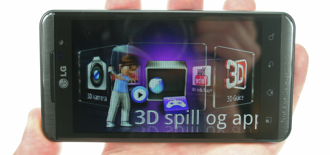 <strong><B>3D I 2D:</strong></B> Det er ikke så enkelt å gjengi den tredimensjonale effekten i denne artikkelen, men LG har altså samlet alle 3D-funksjonene på ett sted. Foto: Øivind Idsø