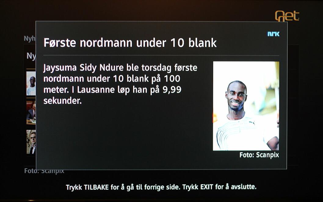 <B>VAR DET ALT?</B> Slik ser nyhetene levert av NRK ut. De kunne like gjerne vært levert av en mediefagsklasse på ungdomsskolen. Dette er tynne greier. Foto: Øivind Idsø