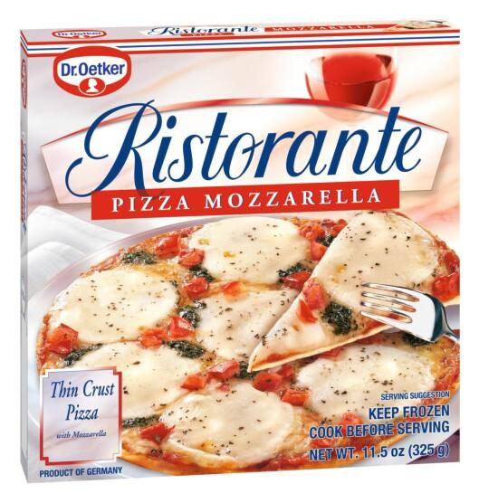 Det er denne pizzaen italienerne spiser når de skal ha en kjapp middag. Foto: Dr. Oetker