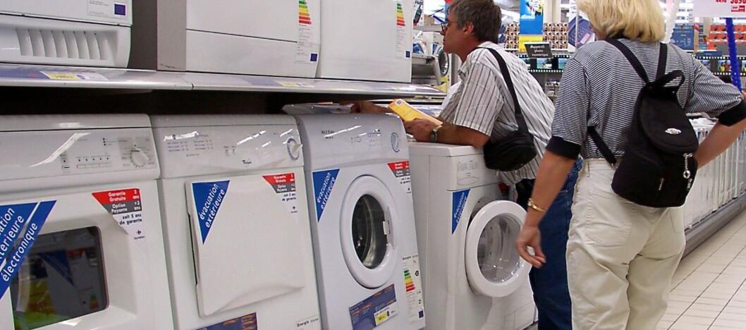 <strong><b>HVITEVARER:</strong></b> Butikken er ansvarlig for å energimerke alle hvitevarer, men hele 49 av 50 undersøkte butikker slurver. Foto: Colourbox