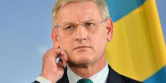 image: Sterke reaksjoner på Carl Bildts hyllest av Sharon