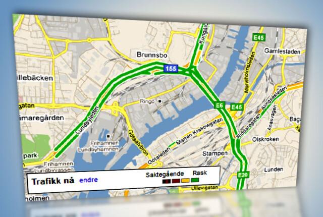 Gps Google Maps Trafikk Naermer Seg Dinside