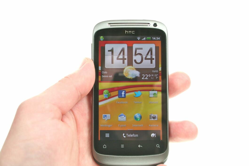 """<strong><B>GIR MENING:</strong></B> Sense-skallet som HTC legger """"over"""" Android blir bedre og bedre. Foto: Øivind Idsø"""