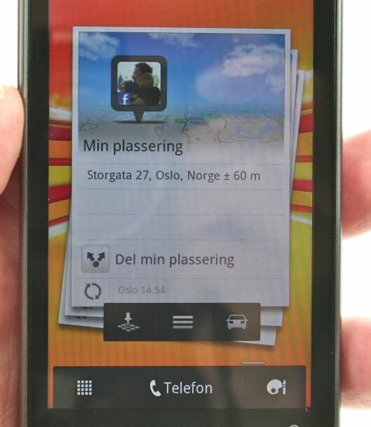 <strong><B>WIDGET:</strong></B> Karttjenesten kommer også med en elegant widget. Foto: Øivind Idsø