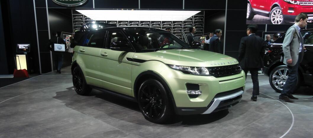 Femdørsversjonen av Range Rover Evoque ble vist på bilutstillingen i Genève tidligere i år.Etter vår mening den tøffest utseende SUVen på markedet i dag. Foto: Knut Moberg