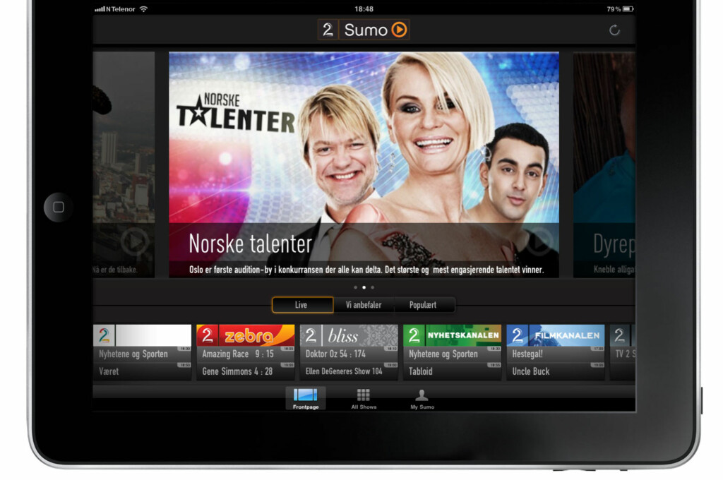 Tv & hjemmekino: TV 2 Sumo på iPad - DinSide