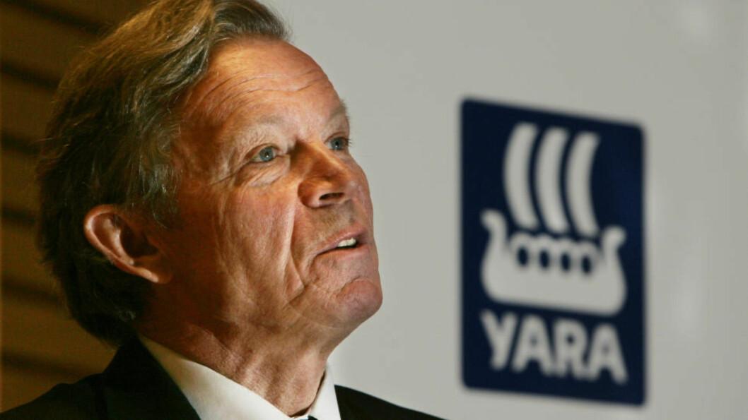 <strong>TILTALT:</strong> Tidliger konsernsjef Thorleif Enger i Yara er sammen med tre andre tidligere ledere er tiltalt for korrupsjon i Yara-saken. Foto: Terje Bendiksby / SCANPIX.