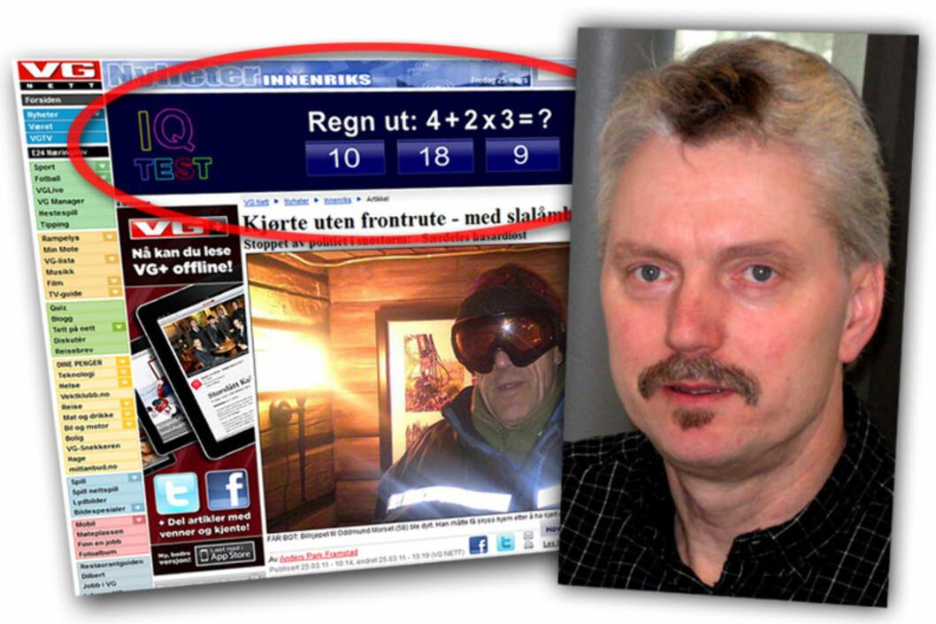 <strong>FØLER SEG LURT:</strong> Lars Egil Berg så en liknende annonse som dette på VG Nett, og sendte inn svar. Det skulle vise seg å være en dårlig idé.  Foto: Ole Petter Baugerød Stokke